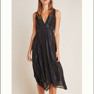 anthropologie endora midi dress size 10P